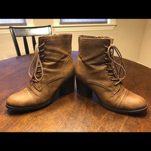 Brown ankle boots